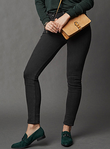 Faded high-rise skinny jean