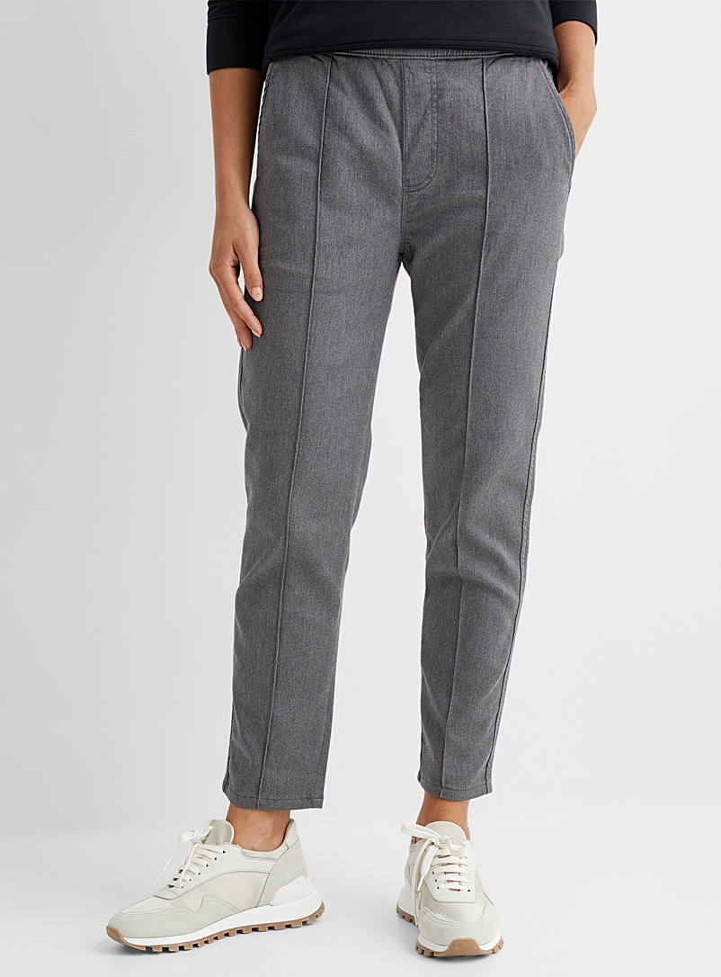 DU/ER Grey French terry jogger jean for women