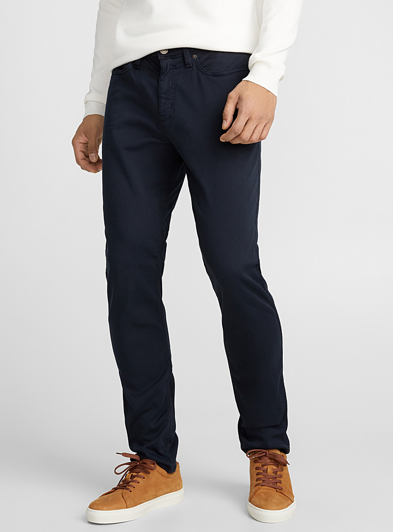 DUER Marine Blue Antibacterial 5-pocket pant  Slim fit for men