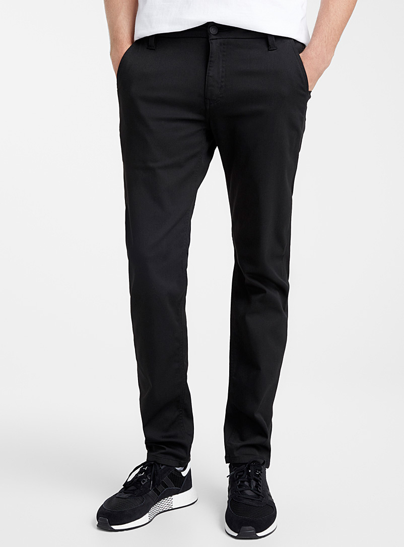 DUER Black Performance chinos Slim fit for men