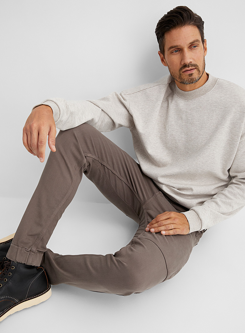DUER Brown No Sweat jogger pant for men
