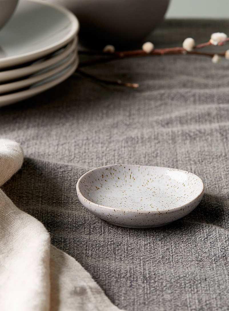Ladelle Patterned Grey Artisanal touch porcelain pinch bowl