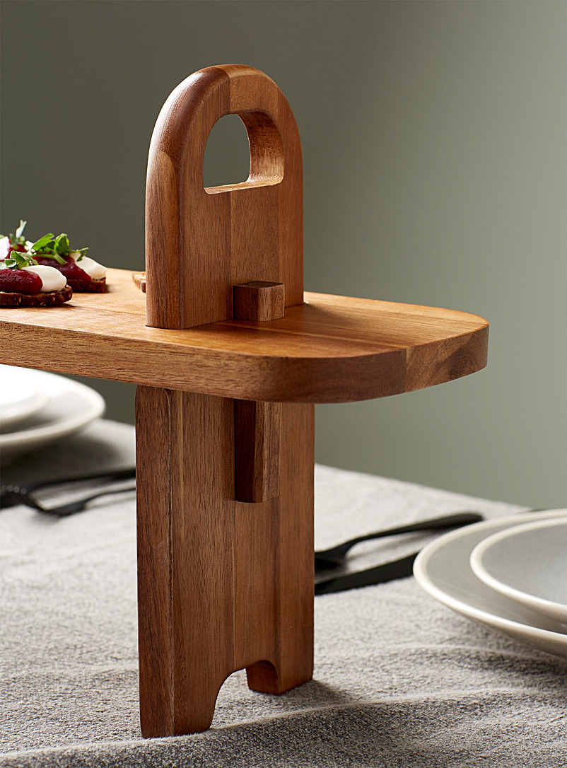 Ladelle Assorted Acacia wood tapas serving board 5-piece set