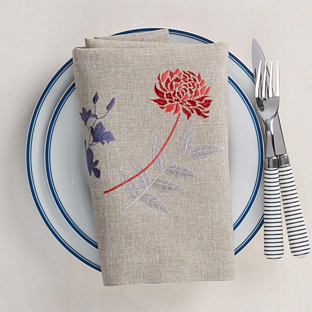 japanese-embroidered-floral-napkin