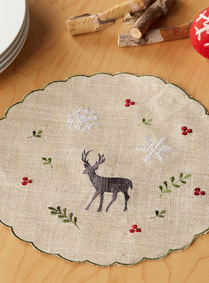 Forest celebration centrepiece - Trivets & Coasters - Patterned Ecru