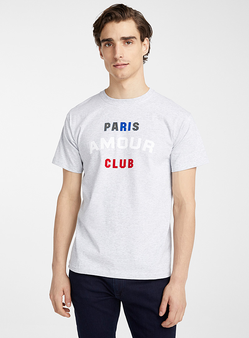 Le t-shirt Paris amour club - Logos et typos - Gris