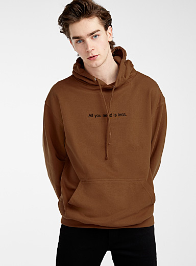 F.A.M.T. Brown F.A.M.T. lettering hoodie for men