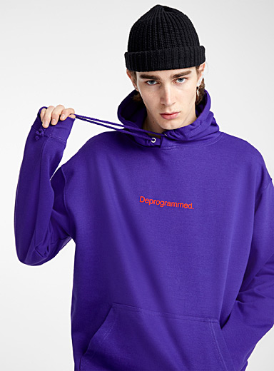 F.A.M.T. Purple F.A.M.T. lettering hoodie for men