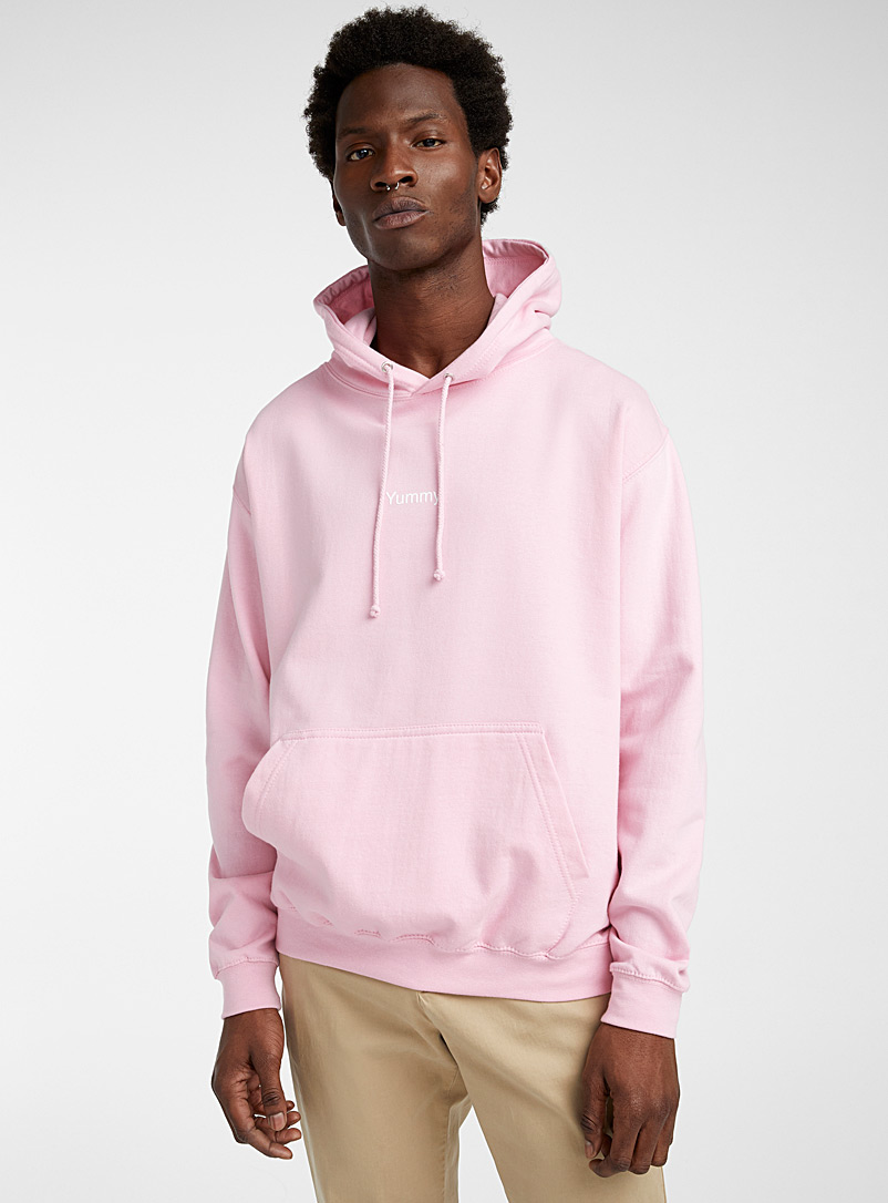 F.A.M.T. Dusky Pink F.A.M.T. lettering hoodie for men