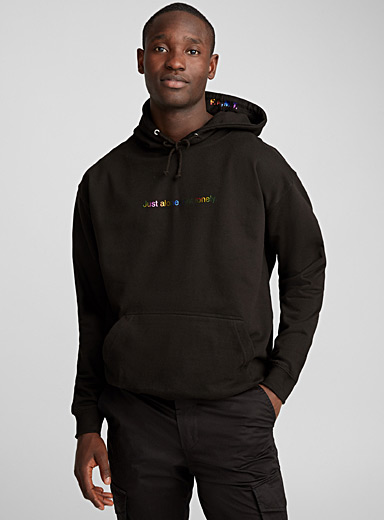 F.A.M.T. Black Just alone, not lonely hoodie for men