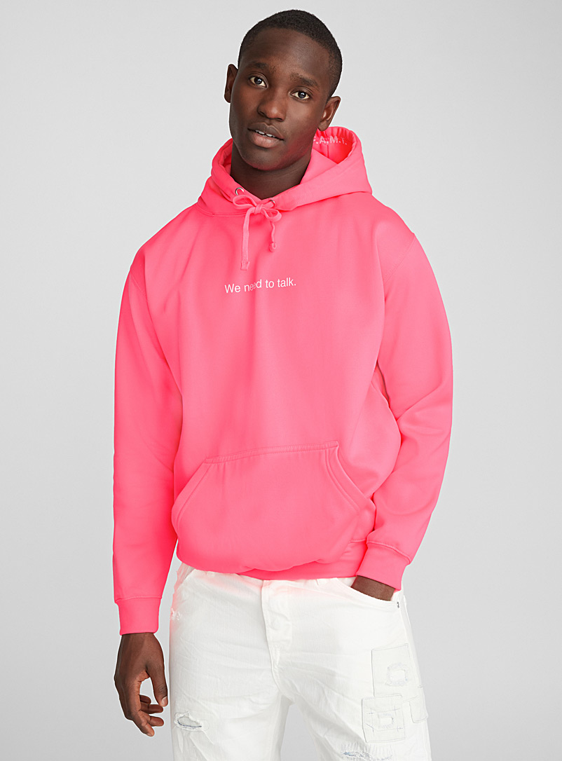 F.A.M.T. Pink Neon message hoodie for men