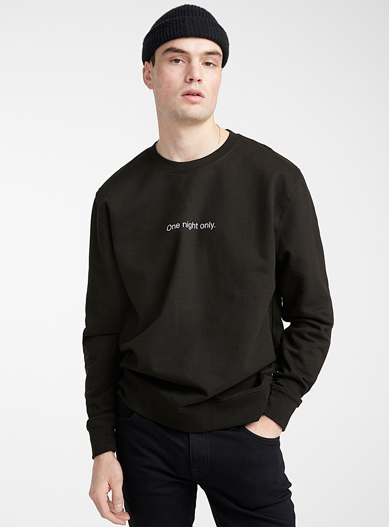 F.A.M.T.: Le sweat paroles F.A.M.T. Noir pour homme