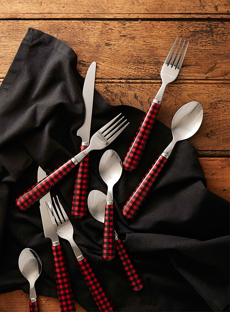 Hunter check utensils  16-piece set