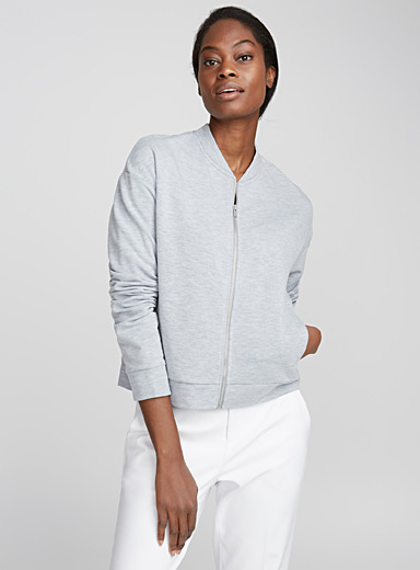 Le bomber sweat zip accent