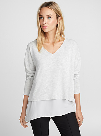 Faux-layered tee