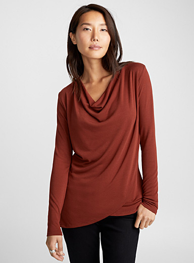 Draped neck tunic