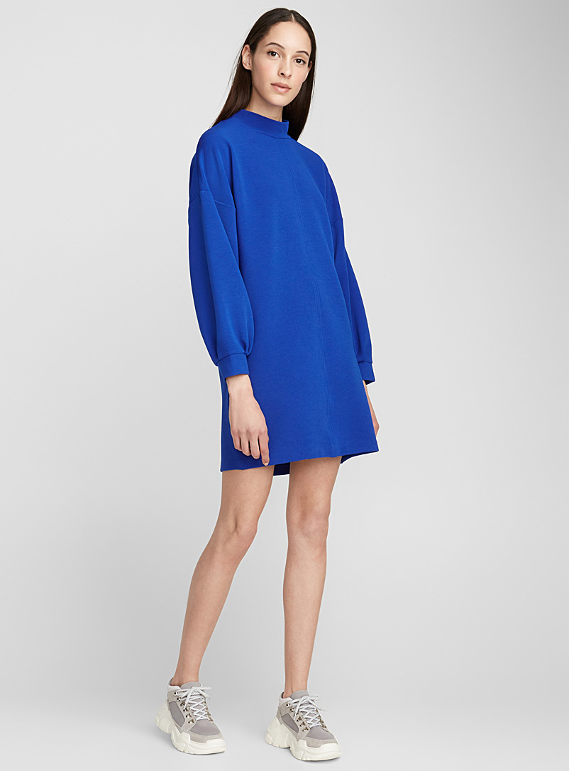 Drop sleeve ottoman dress - Straight - Sapphire Blue