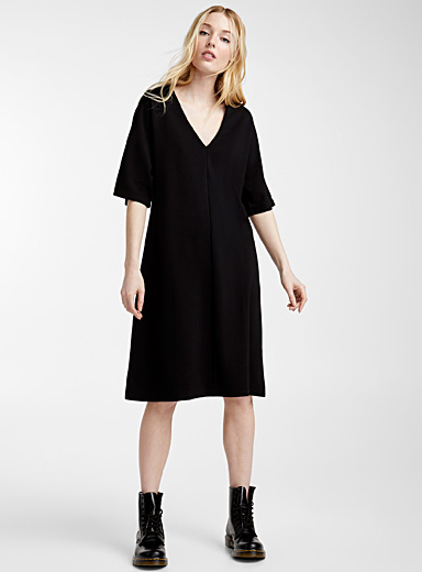 Flared engineered jersey dress