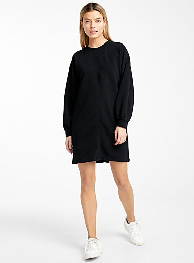 Drop sleeve ottoman dress