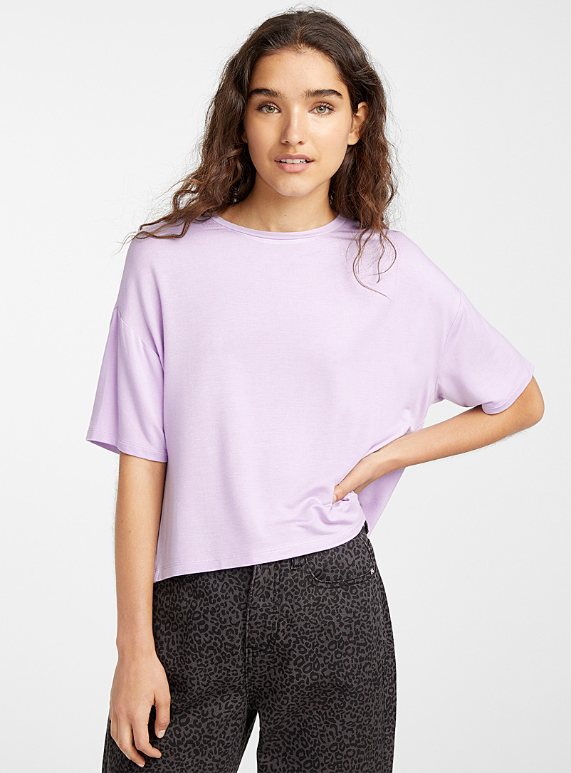 Twik Purple Boxy tee for women