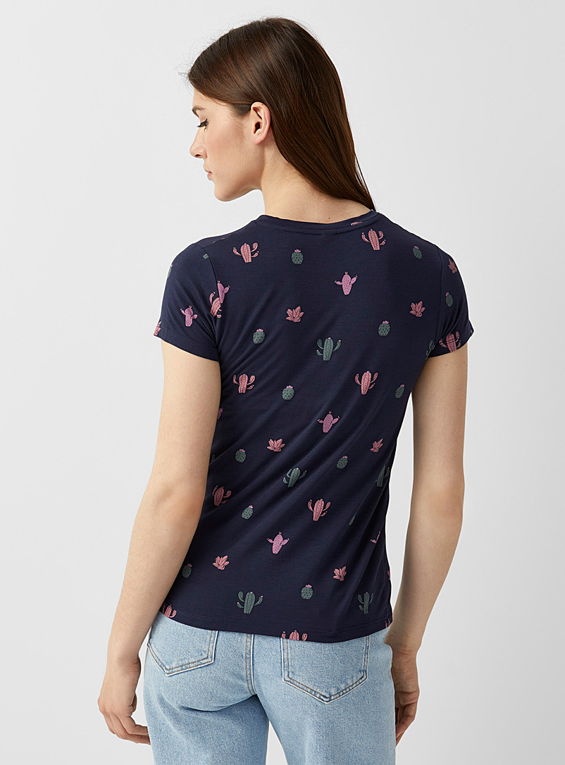 Twik Assorted Modal blend printed crew-neck tee for women