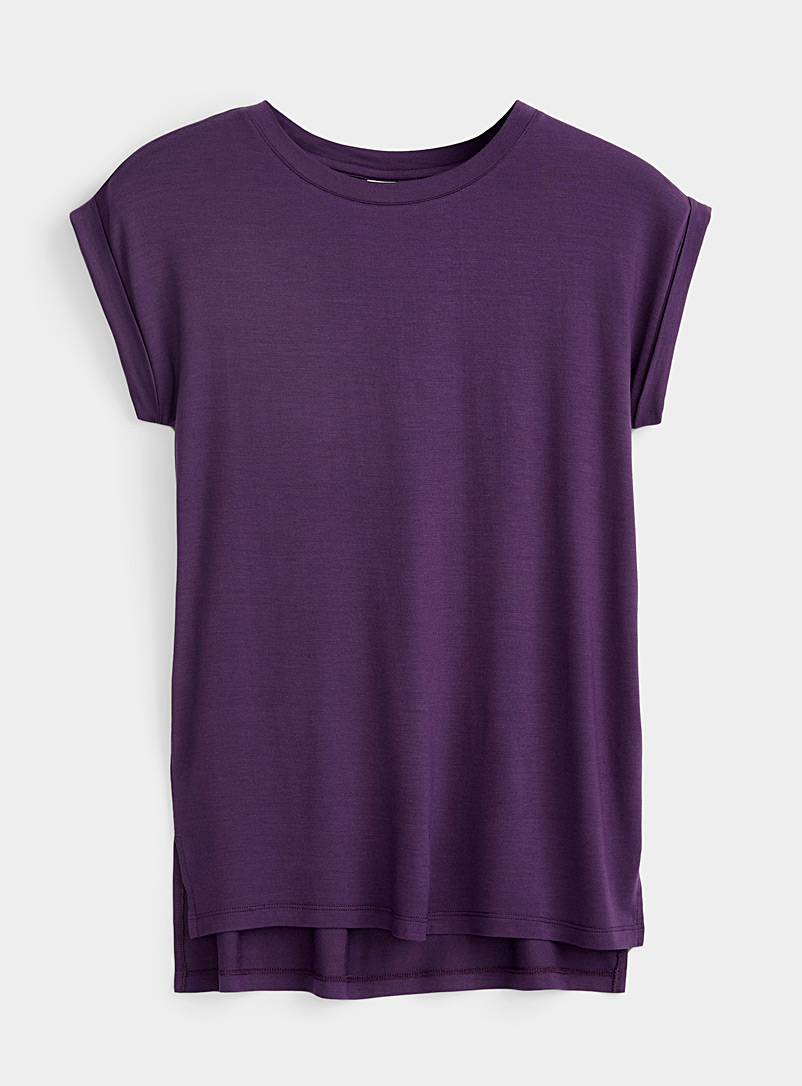 Long cap-sleeve tee