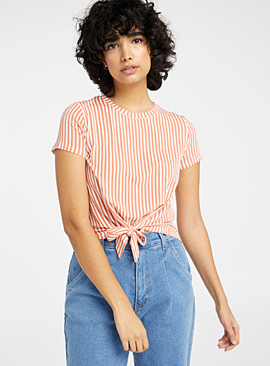 Striped tie tee