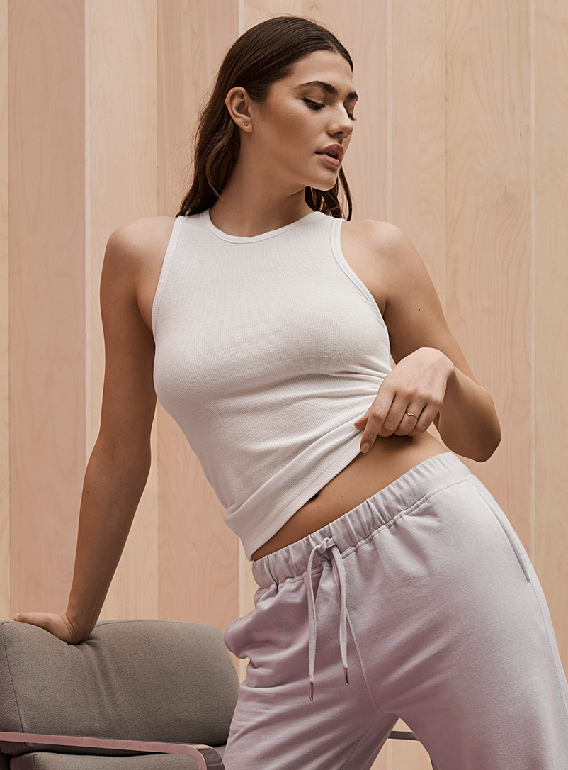 Ribbed eco-friendly viscose cami