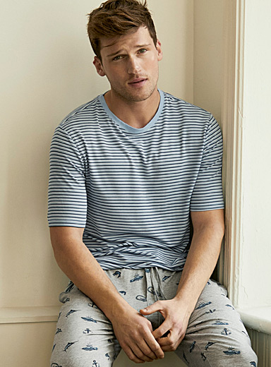 Finely striped lounge T-shirt