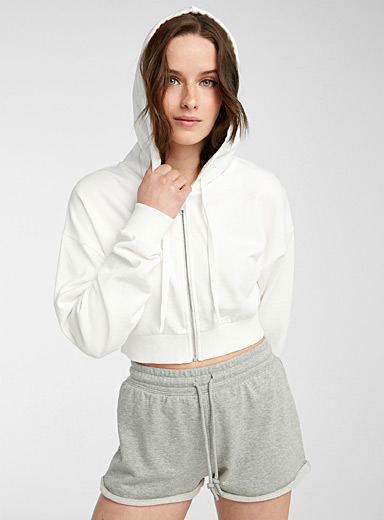 Organic cotton sweatshirt short