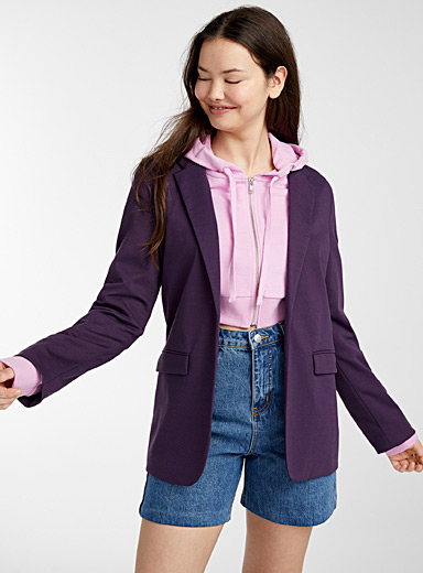 Long loose jersey jacket
