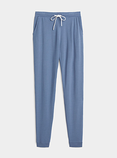 Miiyu Blue Supremely soft modal joggers for women