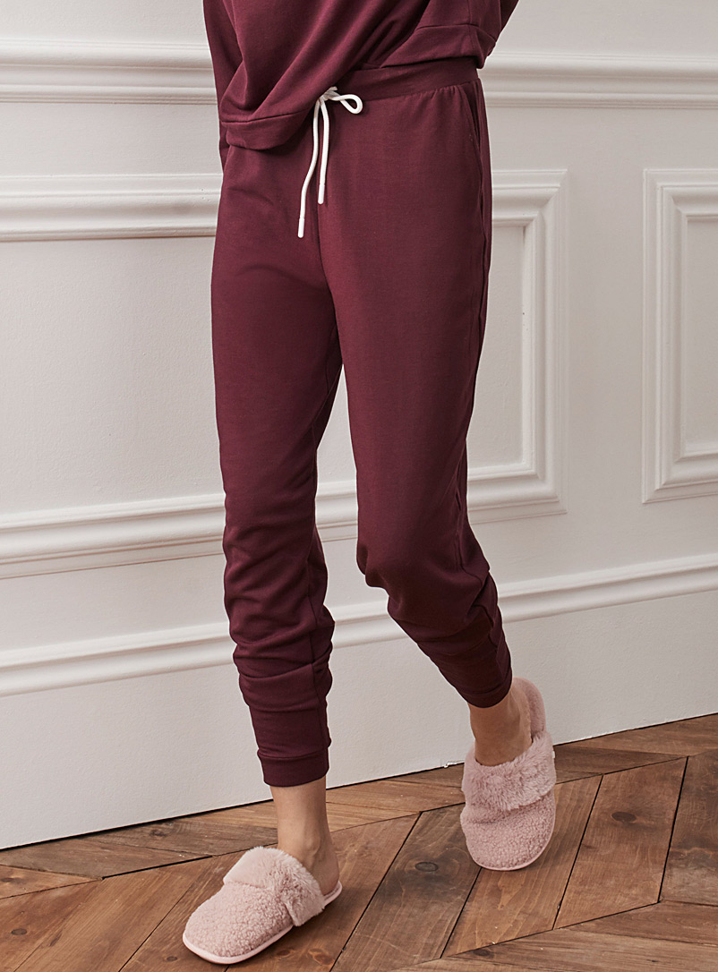 Miiyu Ruby Red Supremely soft modal joggers for women