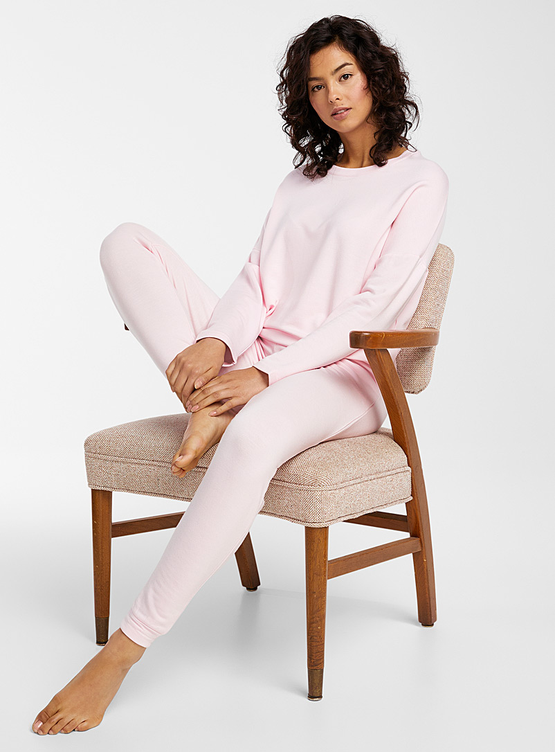 Miiyu Pink Modal ultra soft joggers for women