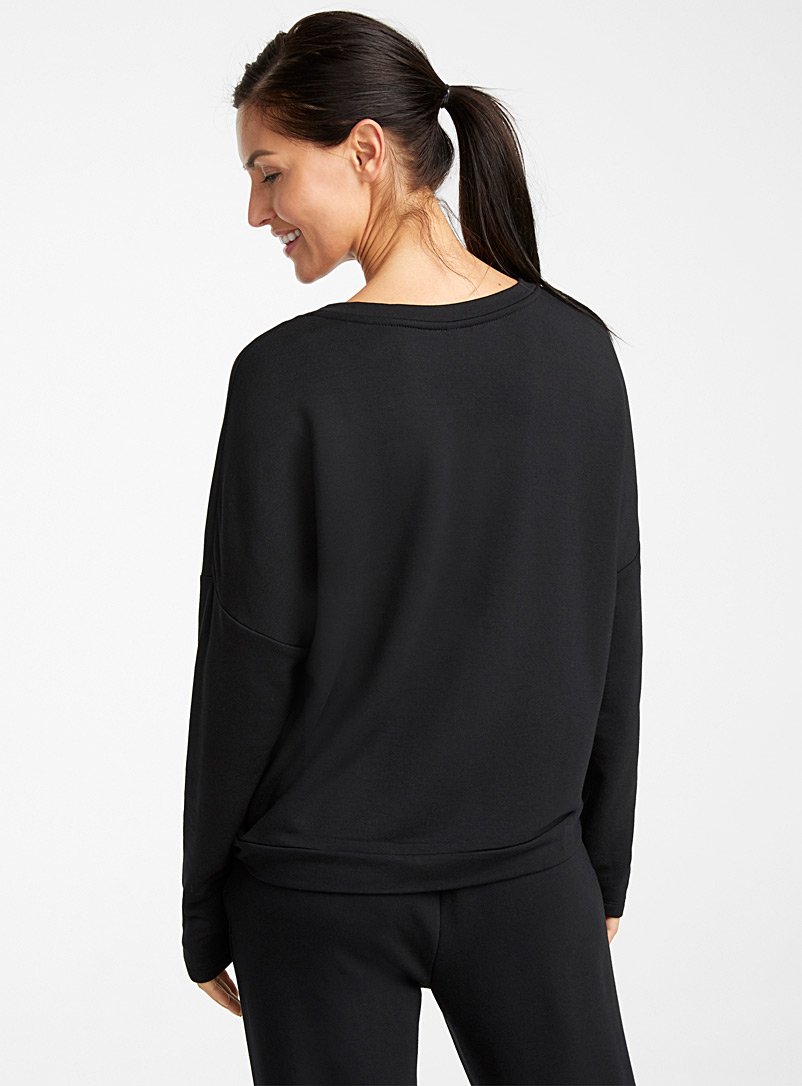 Miiyu Black Supremely soft modal sweater for women