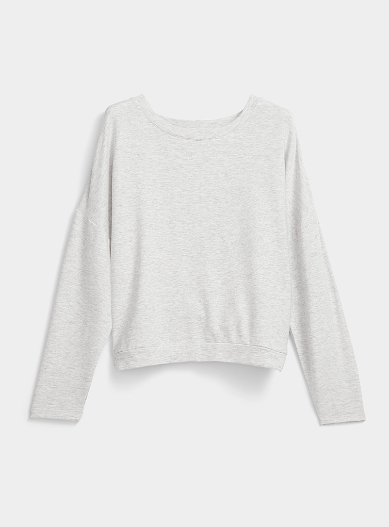 Miiyu Grey TENCEL* Modal ultra soft sweater for women