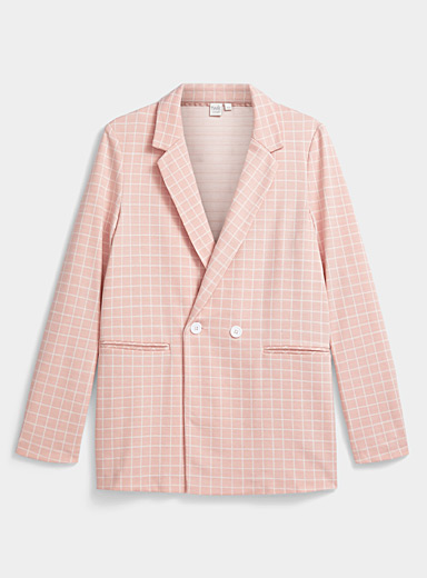 Twik Dusky Pink Graphic print blazer for women
