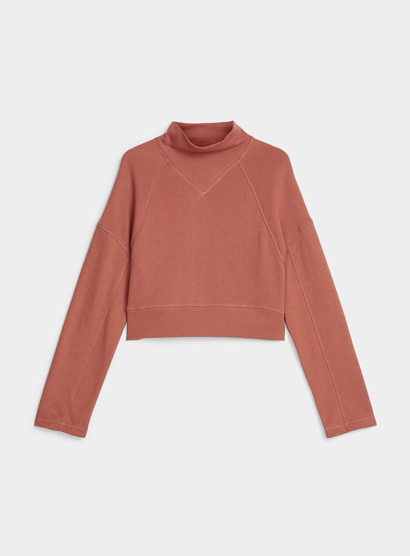 Boxy mock-neck sweatshirt