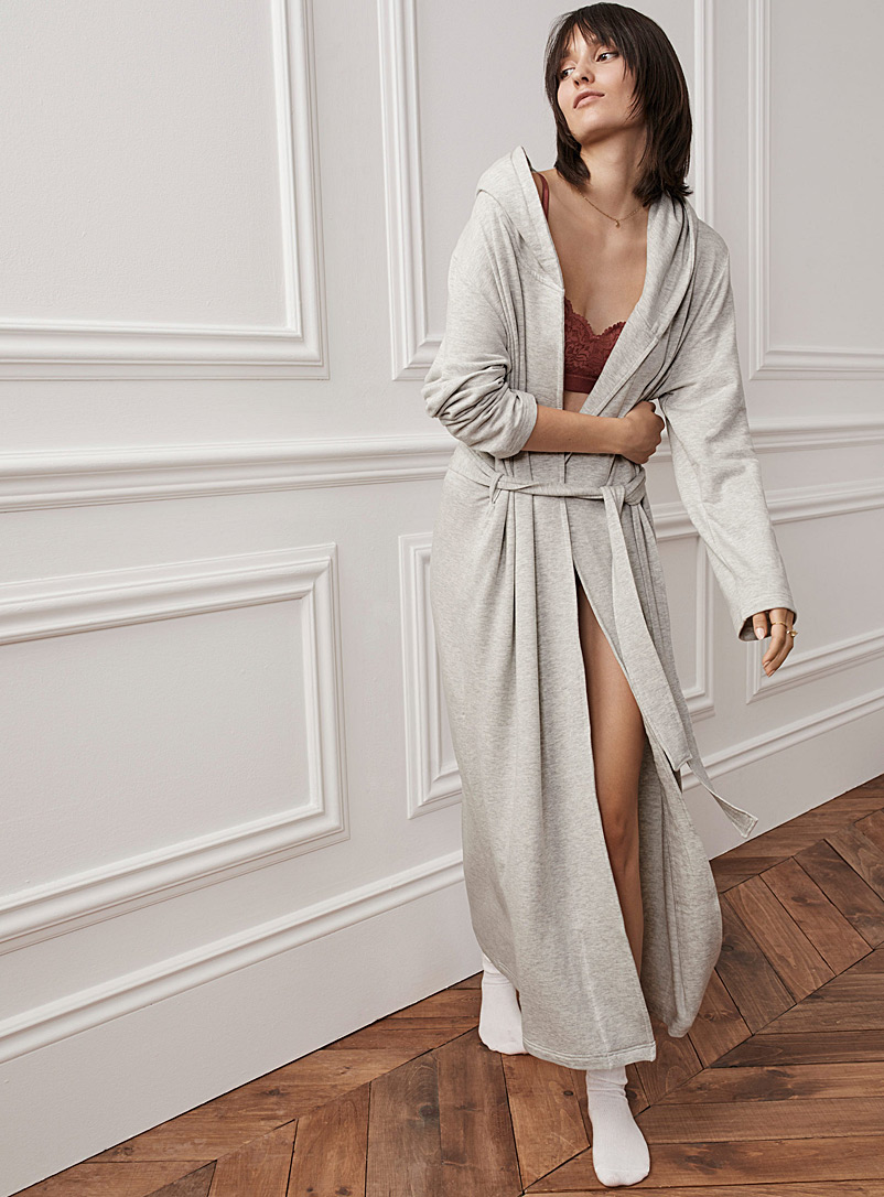 Miiyu Grey Supremely soft modal robe for women