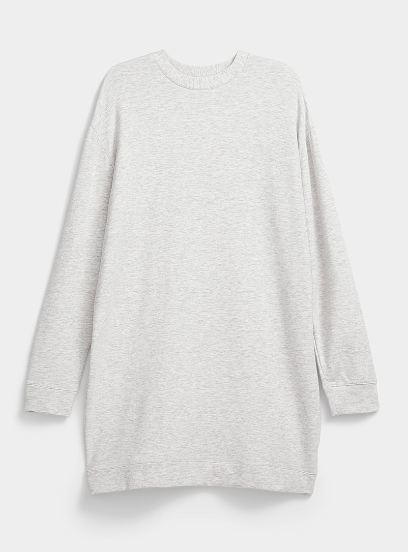 Miiyu Grey Ultra soft sweatshirt dress for women