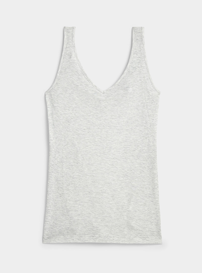 Miiyu Grey Ultra soft lyocell cami for women