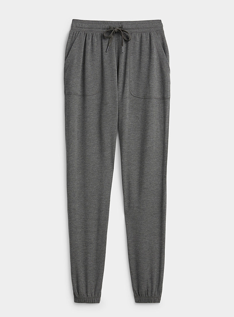 Miiyu x Twik Dark Grey Solid fluid jogger pant for women