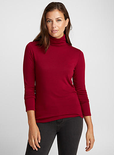 Jersey knit turtleneck