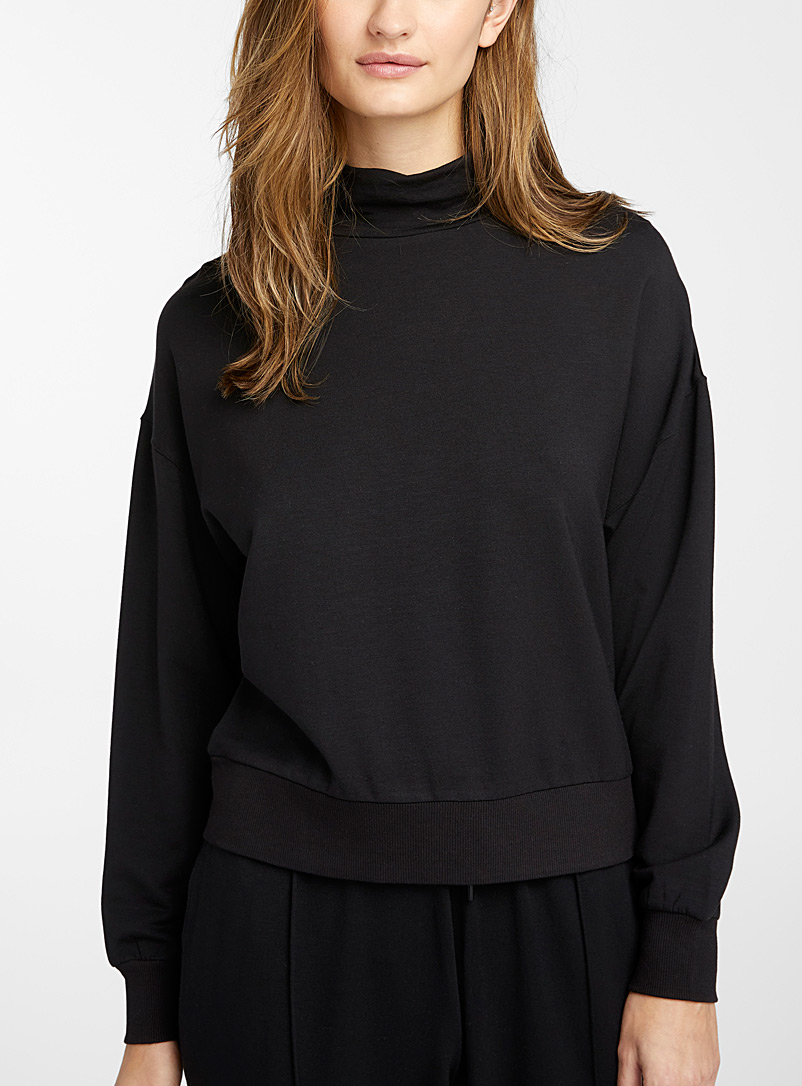 Mock-neck modal sweatshirt