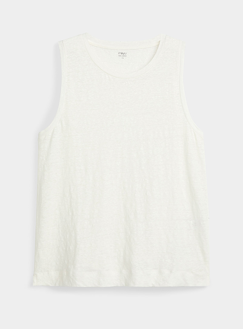 Miiyu Ivory White Heathered lounge cami for women