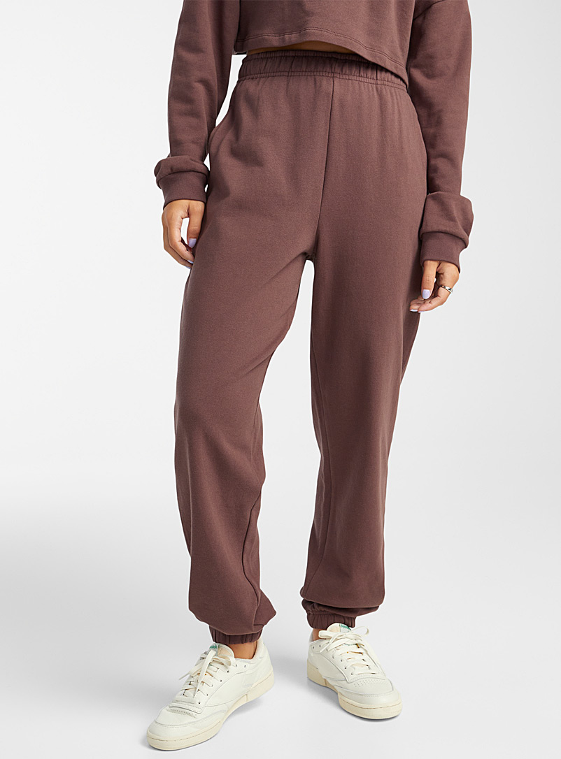 Twik White Terry-lined organic cotton loose joggers for women