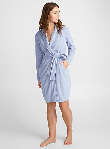 Short terry robe