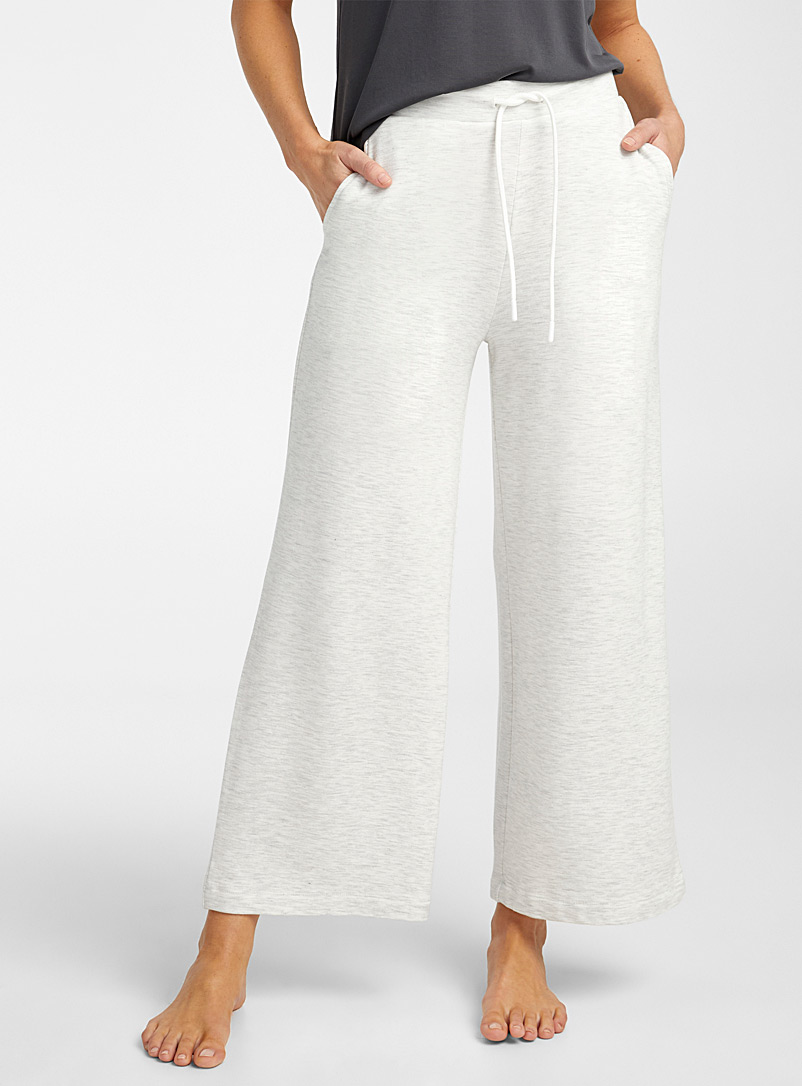 Miiyu Light Grey Supremely soft modal gaucho pant for women
