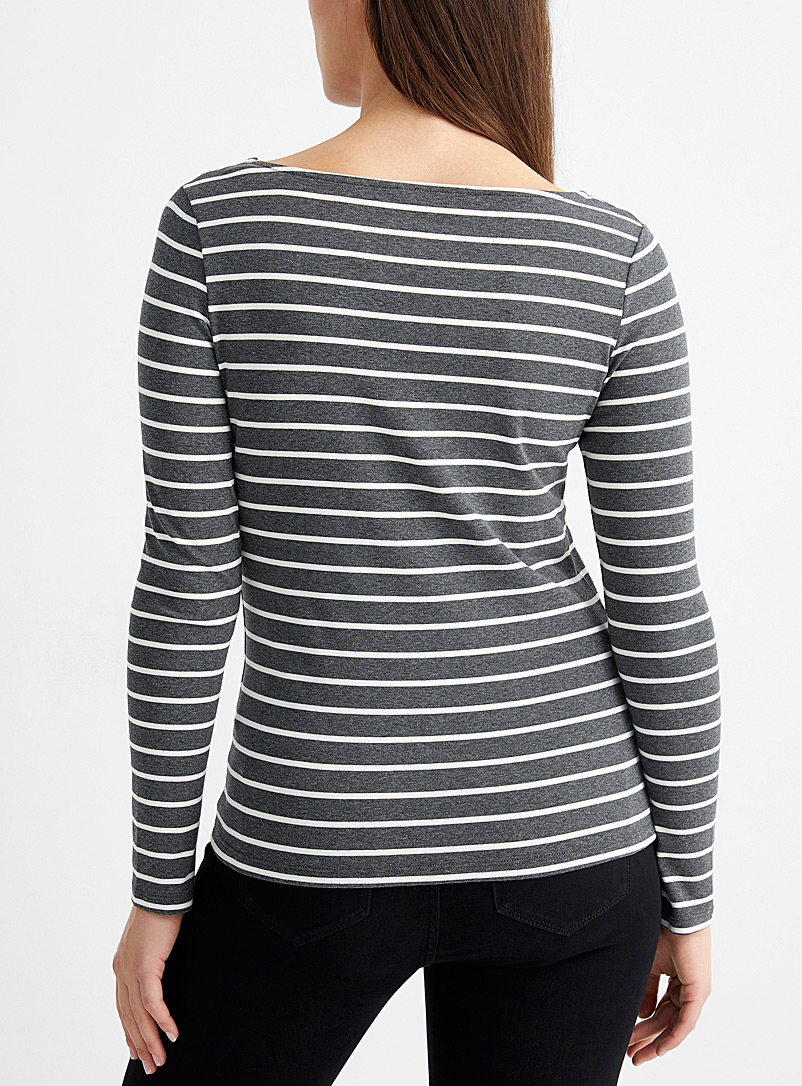 Contemporaine Pearly Jersey knit sailor tee for women