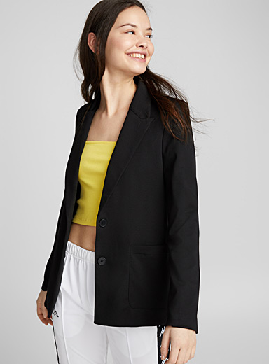 Two-button jersey jacket